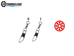 Вертлюг с застежкой Волжанка Ball Bearing Swivel W/Safety Snap (№0-1, тест 5 кг)